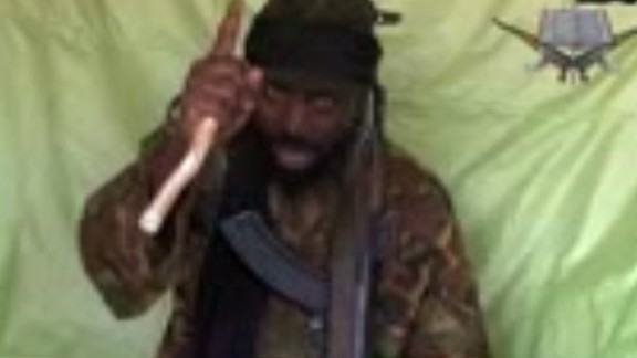"A screengrab taken on April 19, 2014, from a video obtained by AFP shows a man claiming to be the leader of Nigerian Islamist extremist group Boko Haram Abubakar Shekau. The leader of Nigeria's Boko Haram Islamists Abubakar Shekau claimed responsibility for a bombing in Nigeria's capital that killed at least 75 people, in a video message obtained by AFP on April 19. AFP PHOTO / BOKO HARAM RESTRICTED TO EDITORIAL USE - MANDATORY CREDIT ""AFP PHOTO / BOKO HARAM"" - NO MARKETING NO ADVERTISING CAMPAIGNS - DISTRIBUTED AS A SERVICE TO CLIENTSHO/AFP/Getty Images"