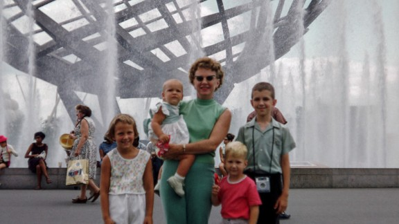 Going to the 1964 World's Fair in Queens, New York, was like taking a vacation for the Ondrovic family, says Robert Ondrovic. Robert is the boy with the pink shirt, standing with his mother, brother and two sisters.