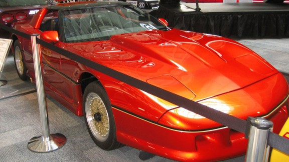 """The 1984 PPG Pace Car is a one-of-a-kind concept car developed by PPG in cooperation with Chevrolet, <a href=""""http://fastlane.gm.com/2014/02/25/chevy-classics-1993-zr-1-spyder-1984-ppg-pace-car/"""" target=""""_blank"""" target=""""_blank"""">according to GM</a>. It served in one of the world's richest racing events, the PPG Indy Car World Series. <br />Gear-heads will appreciate that it features a Katech engine with chassis by George Foller. The body is by Diversified Glass Product and the finish is Deltron Acrylic Urethane Orange Glow Candy."""