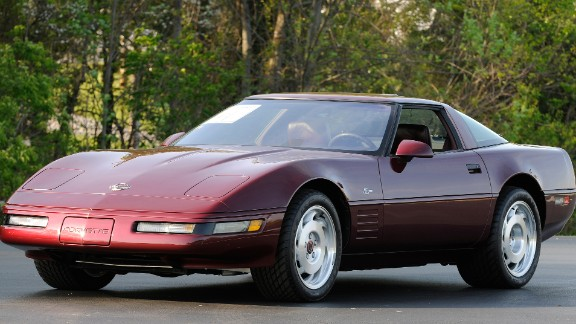 """The 1993 40th Anniversary Corvette stood out for its special ruby red exterior, matching leather seats and wheel centers. It also had a """"40th Anniversary"""" logo emblazoned on its side. In total, 6,749 40th Anniversary Corvettes were built -- as coupes or convertibles, Forrester said."""
