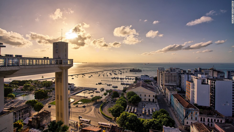 The elevator connecting Cidade Alta (Upper Town) and Cidade Baixa (Lower Town) in Salvador, Bahia, was the first to be installed in Brazil, in 1873. The original two-car elevator was given an art deco makeover in 1930. The restored and now four-cabin elevator provides the 22-second trip for around 10 cents.<em><br />Elevador Lacerda, Praça Municipal, Centro Histórico, Salvador, Bahia; +55 71 3243 4030</em>