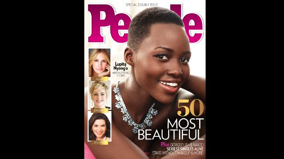 """Nyong'o won a best supporting actress Oscar for her performance in """"12 Years a Slave,"""" her first major role. In April 2014, she was named People magazine's most beautiful person of 2014."""