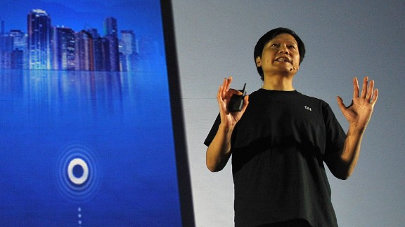 Xiaomi CEO and founder Lei Jun speaks at the launch of a new smartphone in Beijing in 2013.