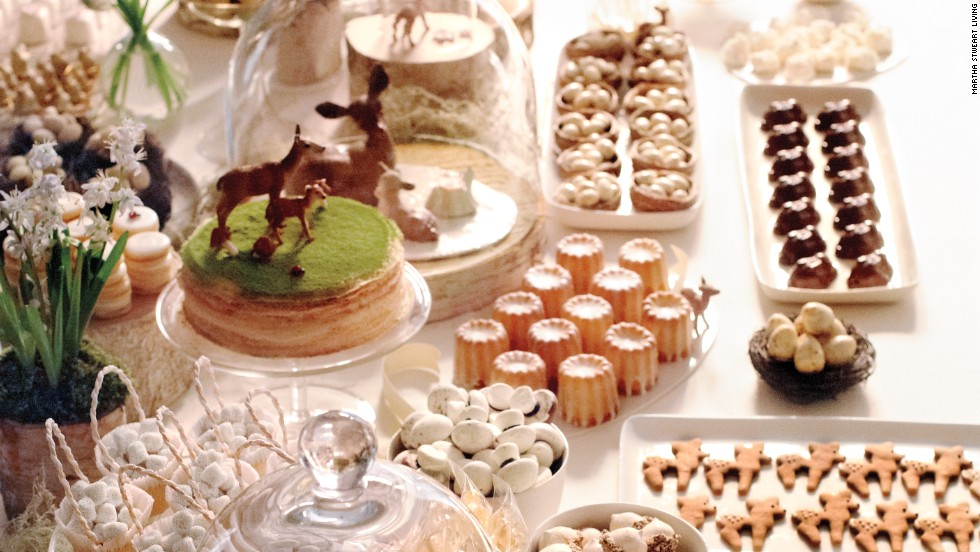 The Woodland Theme Was Evident In Decorations And The Buffet Spread.