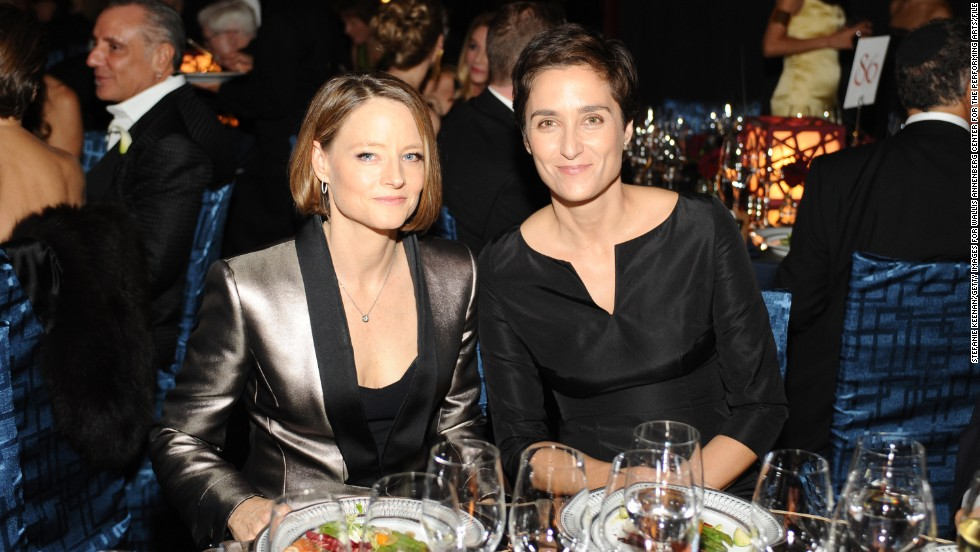 "Jodie Foster, left, is adept at keeping her private life low-key. The actress quietly wed her girlfriend, photographer Alexandra Hedison, in mid-April 2014. According to <a href=""http://www.eonline.com/news/534871/jodie-foster-marries-girlfriend-alexandra-hedison"" target=""_blank"">E! Online</a>, the couple had been dating for almost a year."