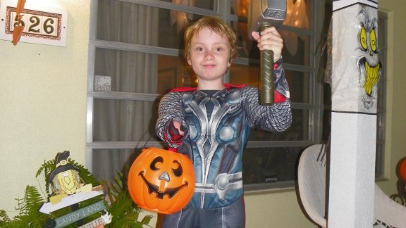 Wyatt Falardeau of Vero Beach, Florida, dressed as Thor for Halloween last year.