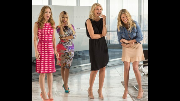 """<strong>No. 5 (tie): </strong>Cameron Diaz, second from right, has had a steady stream of work that's added up to about $18 million in the past year. It includes the 2014 comedy """"The Other Woman,"""" which also starred Leslie Mann, from left, Nicki Minaj and Kate Upton."""