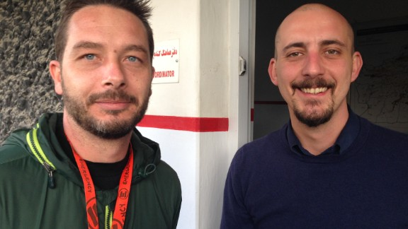 Luca Radaelli (left) and Emanuele Nannini.