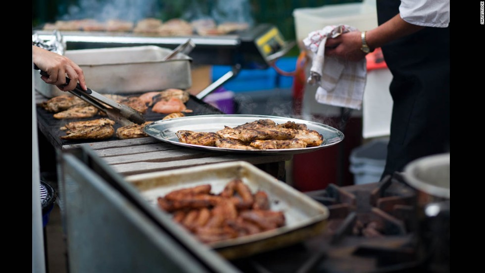 Barbecue weddings are hugely popular, especially in the South. Again, just make sure to let guests know so they can perhaps avoid wearing their most stain-attracting silk. Consider offering a meat-free option as well for your vegetarian guests.