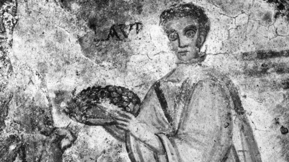 """St. Lawrence is the patron saint of cooks, for a macabre reason. Legend has it that when Lawrence was burnt at the stake he taunted his torturers by saying, """"Turn me over, I"""