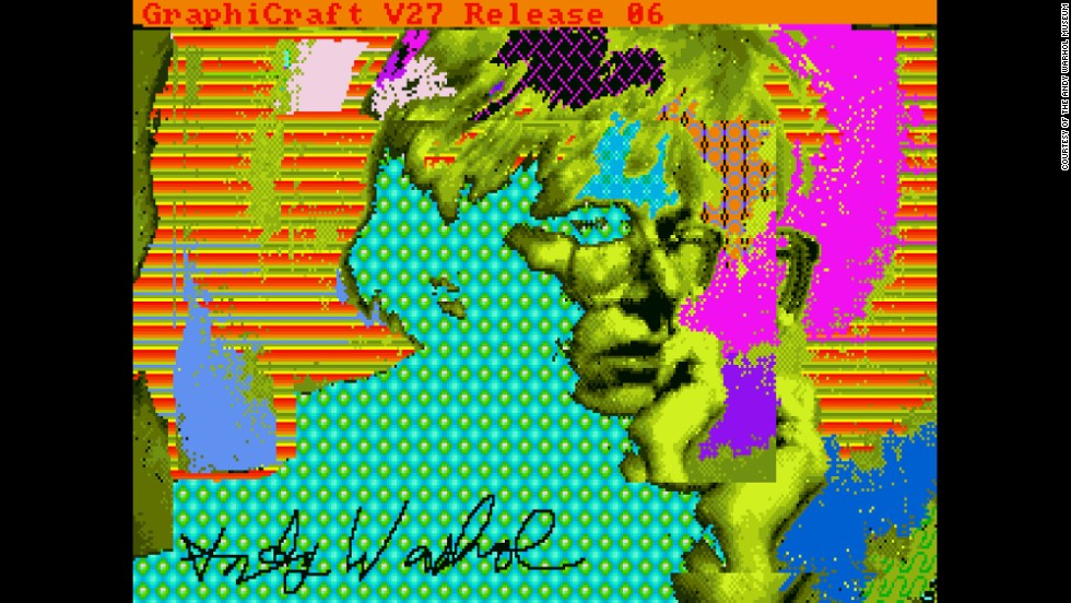 "The Andy Warhol Museum released images that were recently recovered from an Amiga computer.  Warhol created the images as part of a commission by the Commodore computer company, which made the Amiga, to demonstrate the computer's graphic arts capabilities.  The images had been trapped on floppy discs in an obsolete format. One of the images released is this self-portrait titled ""Andy2."""