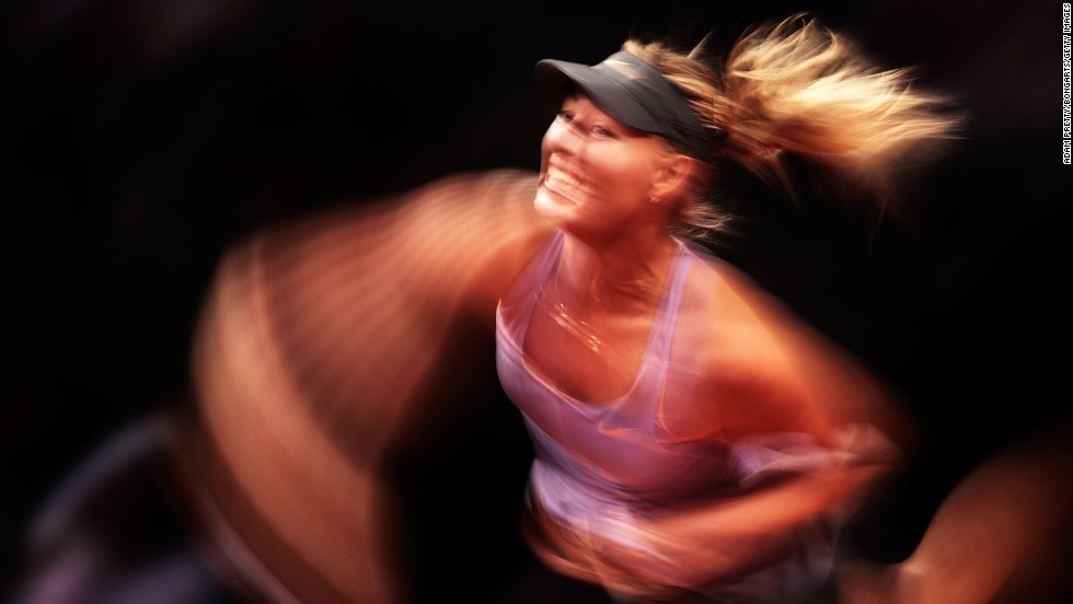Maria Sharapova was in a hurry as she reached the quarterfinals of the WTA tournament in Stuttgart.