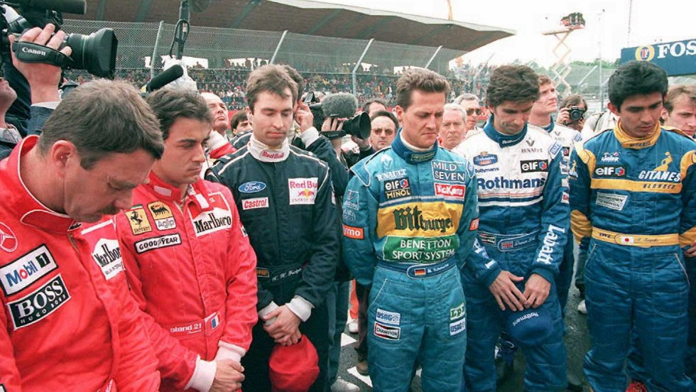 "The death of Senna, the last driver killed during an F1 race, came the day after <a href=""http://cnn.com/2014/04/30/sport/motorsport/roland-ratzenberger-death-anniversary/index.html"">Austrian Roland Ratzenberger died during qualifyin</a>g. Drivers observed a minute's silence to commemorate the first anniversary of the death of the pair moments before the start of the 1995 San Marino Grand Prix."