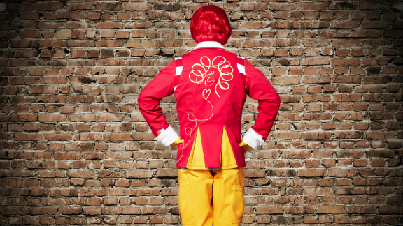 """Ronald also now owns a """"whimsical"""" new blazer. Work it, girl!"""
