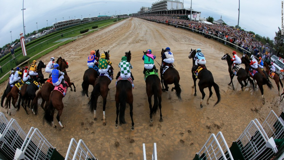 A crowd of 150,000 is expected to flock to Churchill Downs to see the field leave the stalls for the 140th Kentucky Derby.
