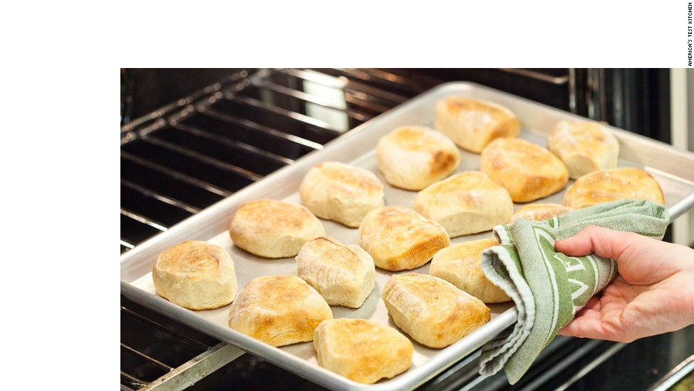 14. Continue to bake until rolls develop deep golden brown crust and sound hollow when tapped on bottom, 10 to 15 minutes, rotating baking sheet halfway through baking time.