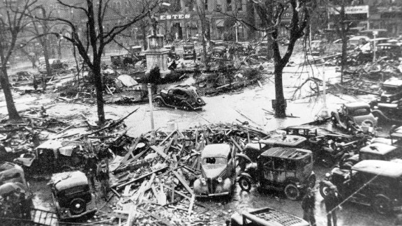 """5. The """"Gainesville Tornado"""" was a pair of storms that converged April 6, 1936, in Gainesville, Georgia, killing 203 people and injuring 1,600. The tornado destroyed four blocks and 750 houses in the northern Georgia town."""