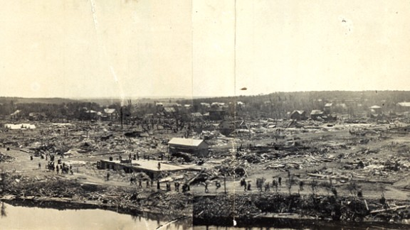 """9. The """"New Richmond Tornado"""" killed 117 people and injured 200 on June 12, 1899, in New Richmond, Wisconsin."""