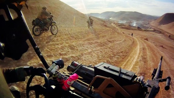 Ex-Marine special forces operator Michael Golembesky describes how troops used dirt bikes to fight Taliban in Afghanistan.