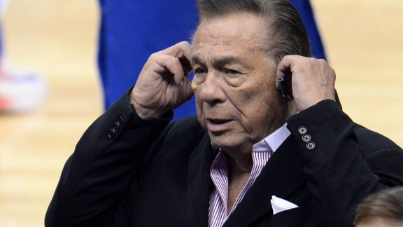 Donald Sterling attends the NBA playoff game between the Clippers and the Golden State Warriors, April 21.