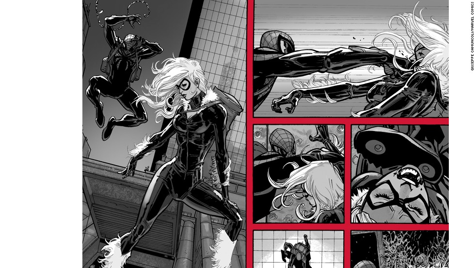 In the first issue, fans flash back to a confrontation between Spider-Man and Black Cat, which ends up with Black Cat in prison.