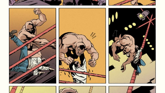 """A look back at Peter's early days as a wrestler, showing off his spider powers (with a modern twist), in """"Amazing Spider-Man"""" #1."""