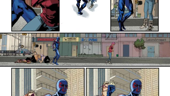 """One more look at the """"Spider-Man 2099"""" story in """"Amazing Spider-Man"""" #1."""