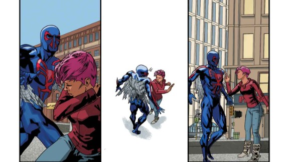 """Another page of the """"Spider-Man 2099"""" story from """"Amazing Spider-Man"""" #1."""