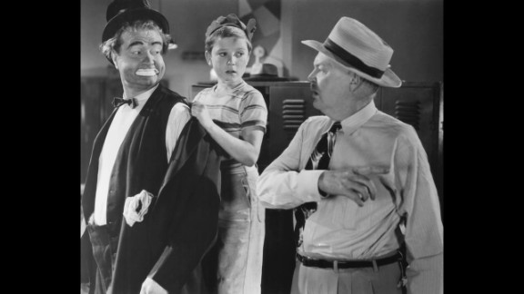 """From left, Red Skelton, Loring Smith and Tim Considine in """"The Clown"""" in 1953. Skelton was a radio and television comedian and best known for his  television show """"The Red Skelton Show."""" His father was a circus clown who died two months before he was born. Skelton delighted audiences as the sentimental clown for 20 years. He even produced dozens of clown paintings."""