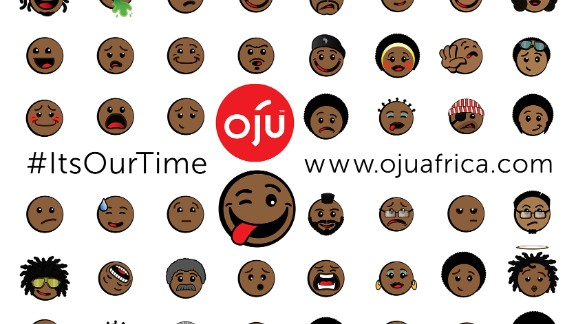 """The first ever Afro emoticons have recently been launched by a Mauritius-based app company. Called """"Oju,"""" which translates to """"faces"""" in the Nigerian Yoruba language, the icons are meant to tackle a lack of racial diversity in mobile characters."""
