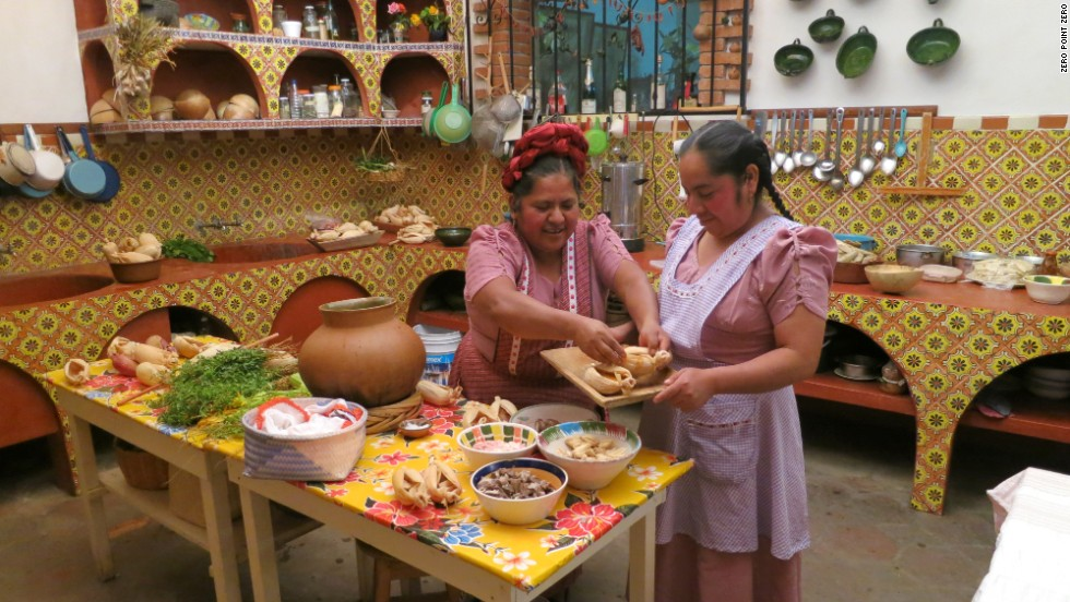 Abigail Mendoza The Zapotecan Owner Of Tlamanalli In Teotitlan Del Valle Prepares A Traditional