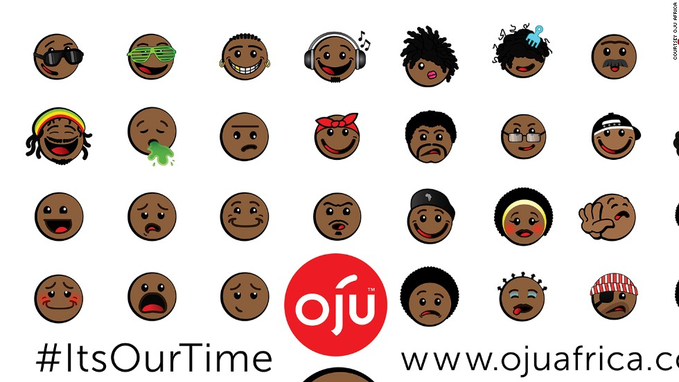 The move came after celebrities such as Miley Cyrus and Tahj Mowry petitioned Apple to update its emoji characters. Oju Africa had been working on their version since 2012, but decided to release them early after the hashtag #EmojiEthnicityUpdate started trending on Twitter.