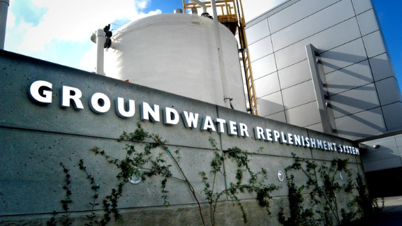 California's Orange County Water District (OCWD), has a plant that recycles used water and returns it to the drinking supply.  It is expanding production to 100 million gallons per day, enough for 850,000 people.