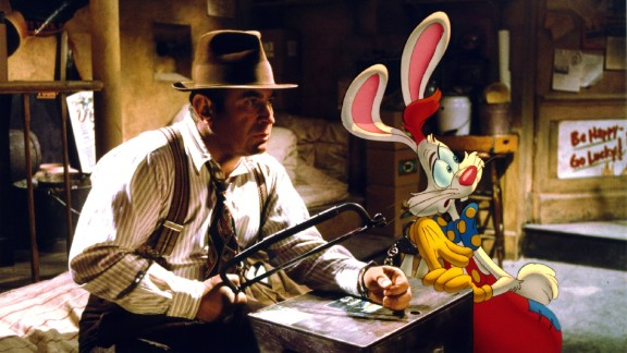 """Bob Hoskins, who died Tuesday, April 29, at 71, was known for playing tough guys with soft hearts. In 1988's """"Who Framed Roger Rabbit,"""" probably his most famous film, he plays detective Eddie Valiant, who agrees to help the title character, who's being accused of murdering a local power broker."""