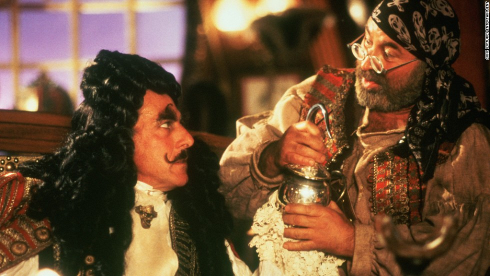 "In 1991's <strong>""Hook,""</strong> Hoskins plays Smee, the assistant to the evil Captain Hook (Dustin Hoffman)."