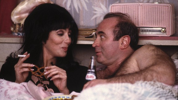 """In 1990's """"Mermaids,"""" Hoskins is a shop owner who romances a single mother (Cher)."""