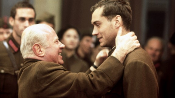 """Hoskins is Nikita Khrushchev in 2001's """"Enemy at the Gates."""" Jude Law plays a Soviet soldier during the siege of Stalingrad."""