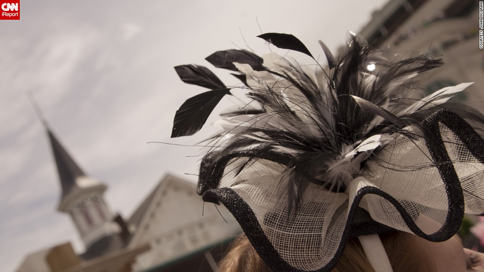 It's not all traditional hats at the Derby; fascinators like this one have been deemed fashionable headpieces.