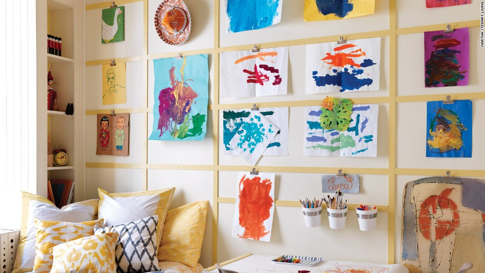 Parting with children's artwork can be difficult for parents. It's easier to identify the keepers if you put some time into your decision -- sort through it once per year.