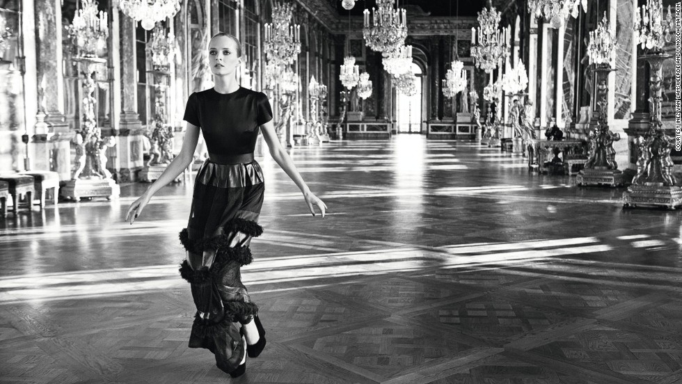 "Christian Dior was famously inspired by the beauty of Parisian women, and many photographers chose to capture the brand's creations in iconic locations in and around the French capital. This ethereal image by the photographic duo <a href=""http://inezandvinoodh.com/"" target=""_blank"">Inez van Lamsweerde and Vinoodh Matadin</a> was taken in the Hall of Mirrors in Versailles."
