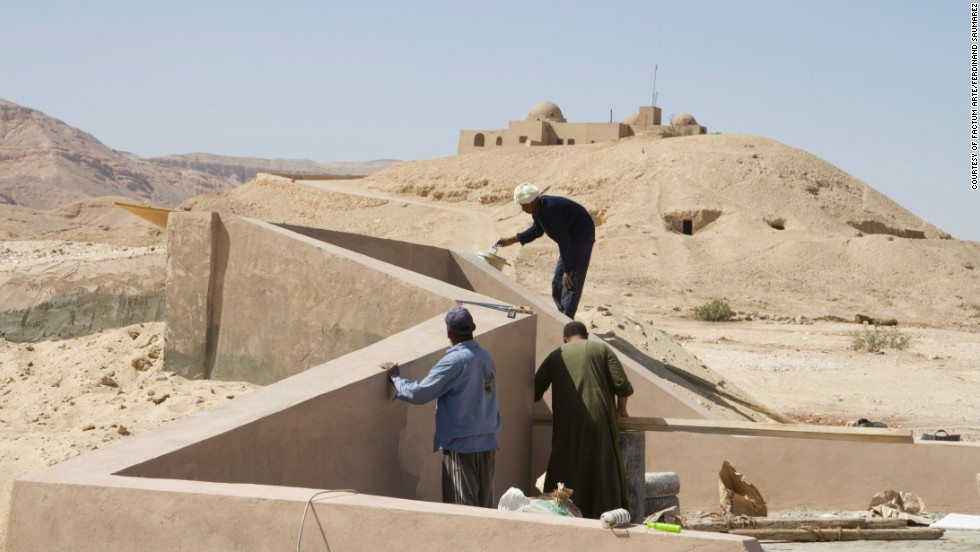 The replica tomb has been built underground near the entrance to the Valley of the Kings archeological complex.