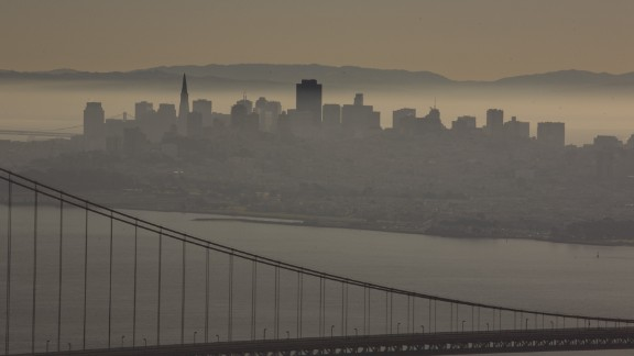 A 2014 report ranks cities that have the worst air quality. San Francisco, California, is among them.