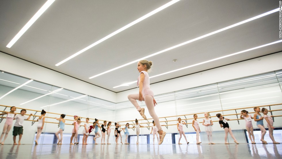 A girl auditions for the School of American Ballet on Friday, April 25, in New York. There were 600 beginner ballet students competing for 120 spots at the school.