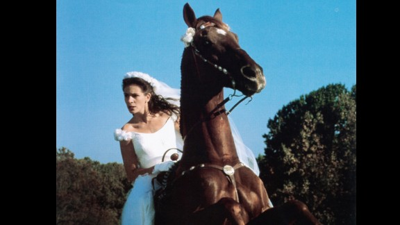 """<strong>""""Runaway Bride"""":</strong> Bridesmaids aren't the issue at Maggie Carpenter's (Julia Roberts) nuptials -- it's her inability to show up at the altar at her own wedding in this 1999 romantic comedy."""