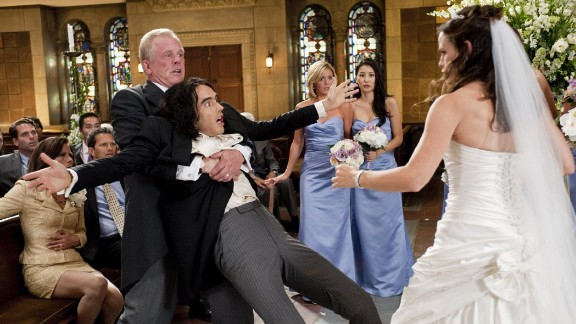 """<strong>""""Arthur"""":</strong> In this 2011 remake, Russell Brand reprises Dudley Moore's 1981 turn as a wealthy, hapless alcoholic who will do anything to sabotage his arranged marriage to a socialite, because he's in love with a working-class woman of whom his family does not approve."""