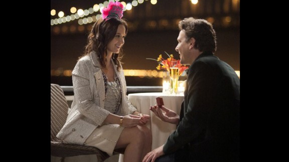 """<strong>""""The Five-Year Engagement"""":</strong> Both bride (Emily Blunt) and groom (Jason Segel) are potential no-shows at the altar over the course of a long engagement and behave pretty awfully along the way in this 2012 comedy."""
