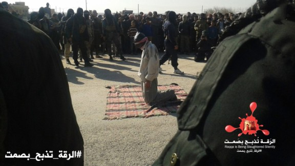 Other images provided to CNN purport to show members of ISIS preparing to execute prisoners by gunshot.