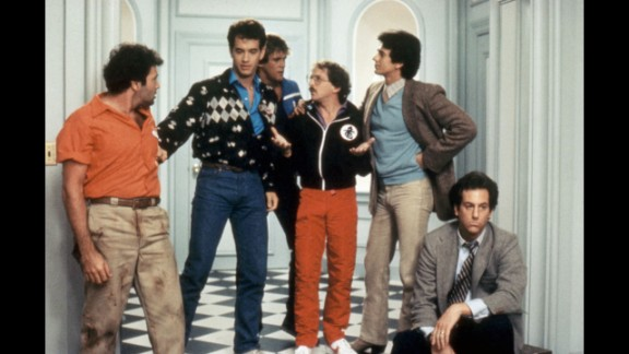 """<strong>""""Bachelor Party"""":</strong> In this 1984 flick, Tom Hanks plays a good-guy bachelor taken aback when his friends throw him the debauched evening of a lifetime -- complete with some very adult entertainment."""