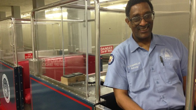 By one estimate, Daryl Chappelle has made 130,000 trips conducting the Capitol's underground subway.