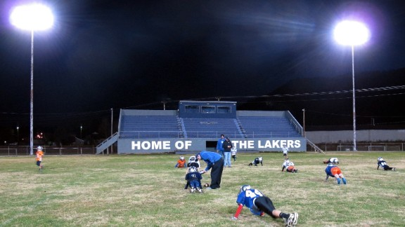 The football field in Lake City sits empty most of the year. Officials hope the Rocky Top project will jump-start the local economy and lead to a first-class athletic complex that draws in area youth.
